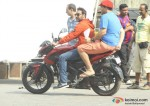 Ajay Devgn and Kunaal Roy Kapur spotted while shooting for 'Action Jackson'