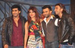 Arjun Kapoor, Priyanka Chopra, Ali Abbas Zafar and Ranveer Singh at the music launch of 'Gunday'