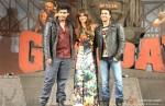 Arjun Kapoor, Priyanka Chopra and Ranveer Singh at the music launch of 'Gunday'