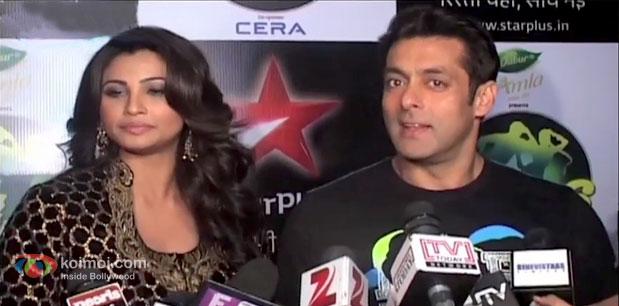 Daisy Shah and Salman Khan at an event