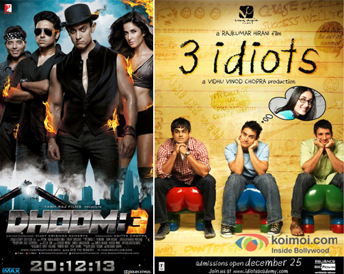 Dhoom 3 And 3 Idiots Movie Poster Koimoi