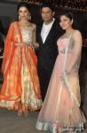 Divya Khosla Kumar, Bhushan Kumar and Tulsi Kumar at singer Raghav Sachar's wedding reception