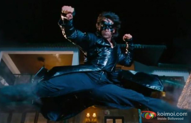 Hrithik Roshan in still from Krrish 3