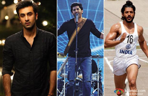 Ranbir Kapoor, Aditya Roy Kapur and Farhan Akhtar