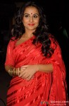 Vidya Balan Looks Graceful In A Red Hot Sari