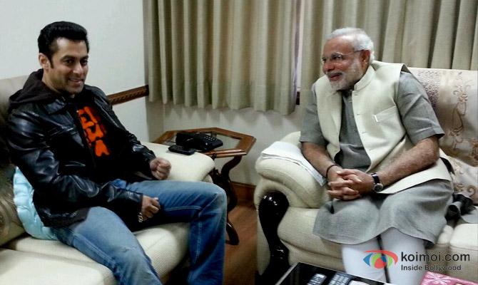 Salman Khan and Narendra Modi