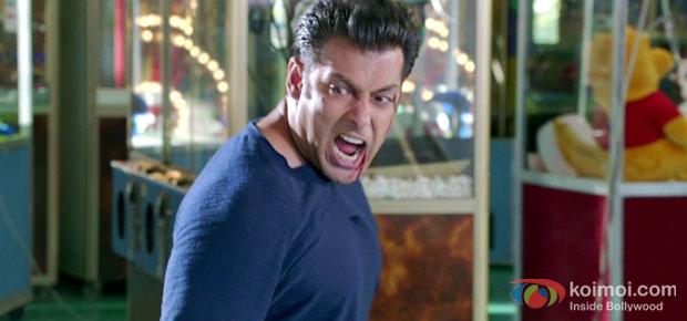 Salman Khan in a still from Jai Ho