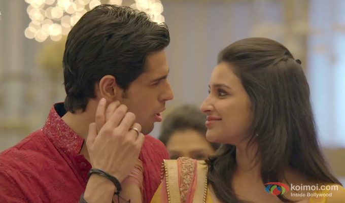 Sidharth Malhotra and Parineeti Chopra in a still from Hasee Toh Phasee