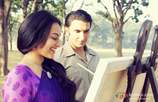 Sonakshi Sinha and Ranveer Singh in a still from Lootera