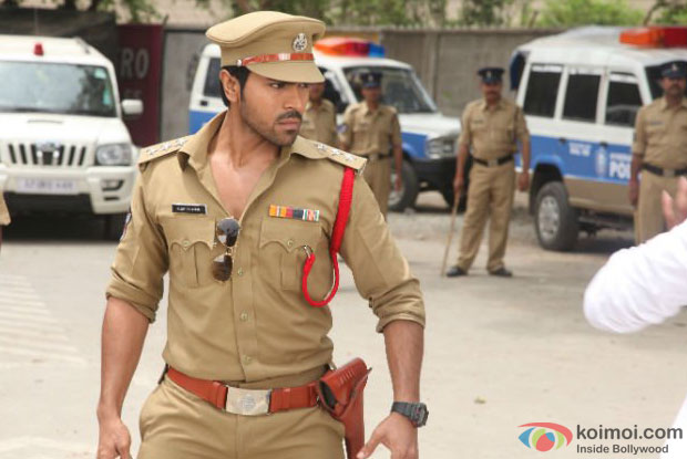 Ram Charan Teja in a still from 'Zanjeer'