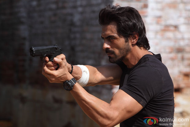 Arjun Rampal in a still from movie 'D-Day'