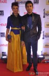 Adhuna Bhabani Akhtar and Farhan Akhtar walk the Red Carpet of 'Filmfare Awards 2014'
