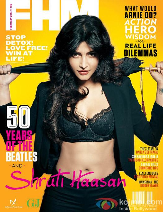 Shruti Haasan on FHM Magazine Cover