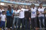 Huma Qureshi, Daisy Shah, Shera, Salman Khan, Arman Kohli and Sangram Singh promote 'Jai Ho' at CCL Match