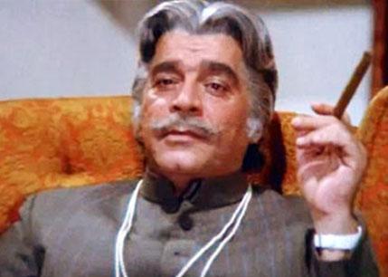 Ajit Khan as a 'Loin' still from movie