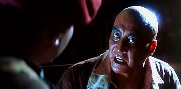 Danny Denzongpa as a 'Abhrush' in a still from movie 'Pukar'