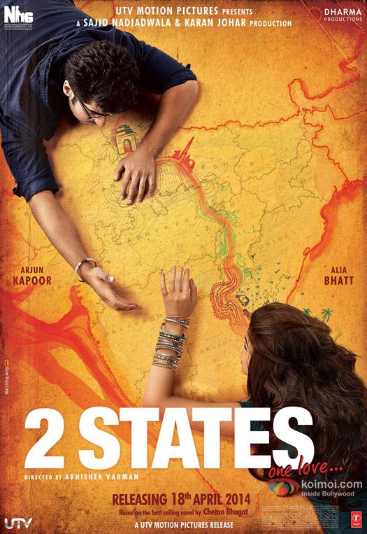 Arjun Kapoor and Alia Bhatt starrer '2 States' movie first look poster