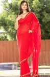 Beautiful Sunny Leone in a red saree