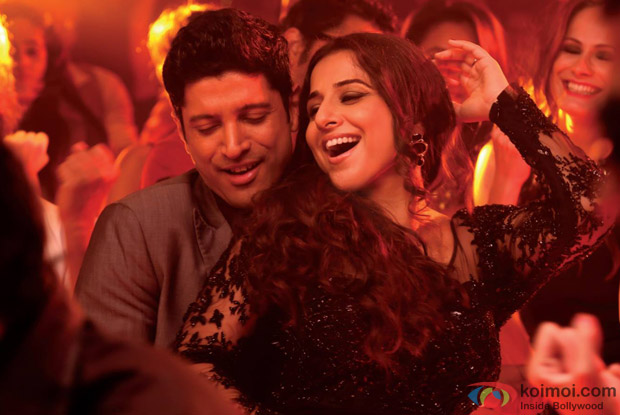 Farhan Akhtar and Vidya Balan in a still from movie 'Shaadi Ke Side Effects'