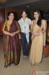 Seema Pahwa, Maya Sarao and Taranjit Kaur during the trailer launch of film Ankhon Dekhi