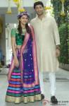 Ahana Deol and Vaibhav Vora poses on Mehendi ceremony