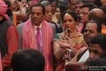Dharmendra and Hema Malini on the wedding day of Ahana Deol and Vaibhav Vora