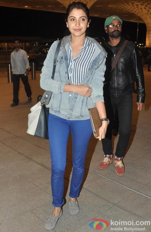 Anushka Sharma leaves for Sri Lanka for 'Bombay Velvet' Pic 1