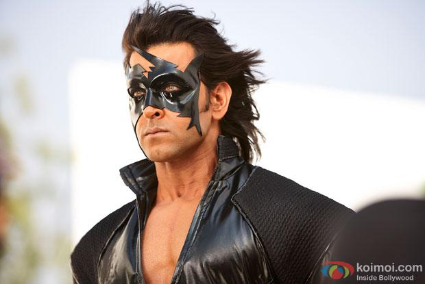 Hrithik Roshan in a still from movie 'Krrish 3'