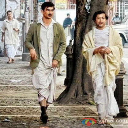 Sushant Singh Rajput in a still from movie 'Detective Byomkesh Bakshy'
