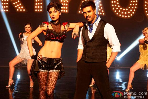 Shilpa Shetty and Harman Baweja in a 'Tu Mere Type Ka Nahi Hai' song still from movie 'Dishkiyaoon'