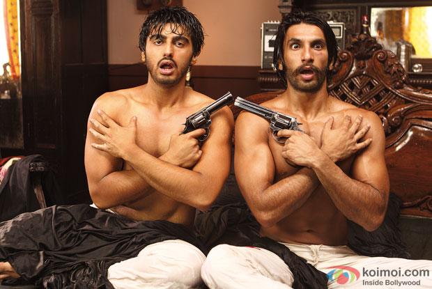 Arjun Kapoor and Ranveer Singh in a still from movie 'Gunday'