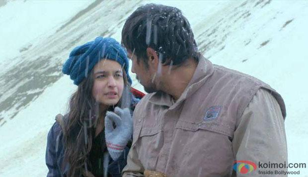 Alia Bhatt and Randeep Hooda in a still from movie 'Highway'