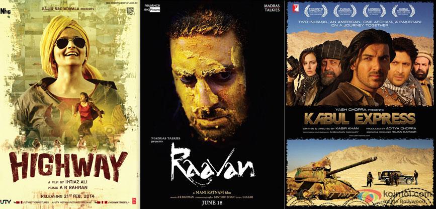 Highway, Raavan and Kabul Express Movie Poster