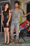 Gauahar Khan and Kushal Tandon during the launch of 'Fear Factor: Khatron Ke Khiladi'