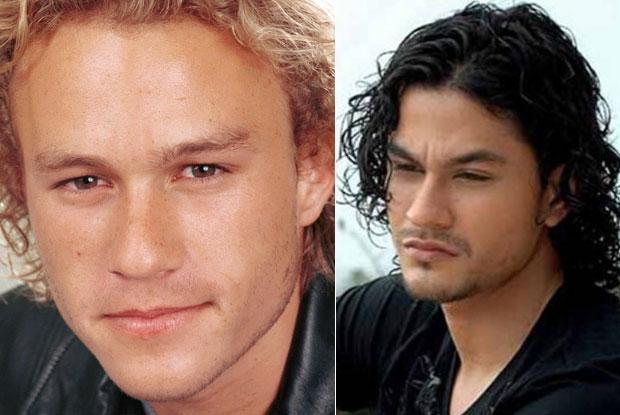 Heath Ledger and Kunal Khemu