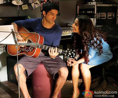 Farhan Akhtar and Vidya Balan in a still from movie 'Shaadi Ke Side Effects'