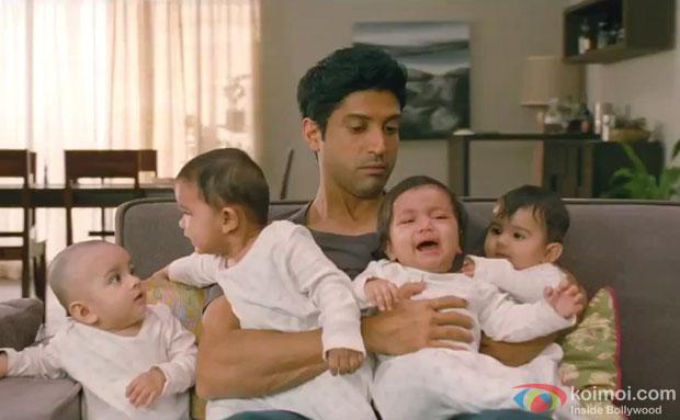 Farhan Akhtar in a still from movie 'Shaadi Ke Side Effects'
