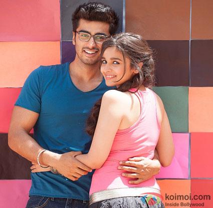 Arjun Kapoor and Alia Bhatt in a still from movie '2 States'