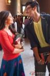 Alia Bhatt and Arjun Kapoor in 2 States Movie Stills Pic 5
