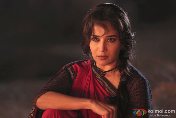 Madhuri Dixit in a still from movie 'Gulaab Gang'