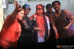 Chitrani Lahiri, Bappi Lahiri and Bappa Lahiri Celebrate 'Holi'