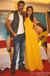 Harman Baweja and Ayesha Khanna during the press meet of the film Dishkiyaoon