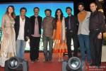 Saidah Jules, Girish Malik, Rajkumar Hirani, Bickram Ghosh, Kirti Kulhari, Sonu Nigam and Purab Kohli during the music launch of film 'Jal'
