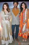 Saidah Jules, Purab Kohli and Kirti Kulhari during the music launch of film 'Jal'