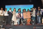 Sunil Shetty, Puneet Singh, Saidah Jules, Girish Malik, Rajkumar Hirani, Bickram Ghosh, Kirti Kulhari, Sonu Nigam and Purab Kohli during the music launch of film 'Jal'