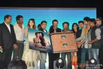 Sunil Shetty, Saidah Jules, Girish Malik, Rajkumar Hirani, Bickram Ghosh, Kirti Kulhari, Sonu Nigam and Purab Kohli during the music launch of film 'Jal'