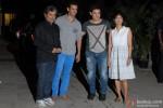 Vishal Bhardwaj, Sharman Joshi, Aamir Khan and Kiran Rao at Kangana Ranaut's Birthday Bash