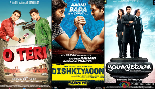 O Teri, Dishkiyaaon and Youngistan Movie Poster