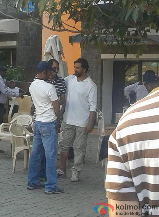 Akshay Kumar On The Sets Of Gabbar
