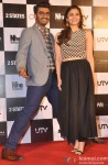 Arjun Kapoor and Alia Bhatt during the trailer launch of movie '2 States' Pic 1
